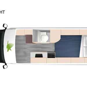Kea-Luxury-Campervan---3-Berth-Night-interior