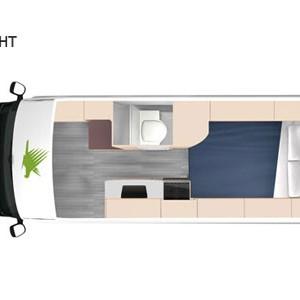 Kea-Luxury-Campervan---3-Berth-Night-interior